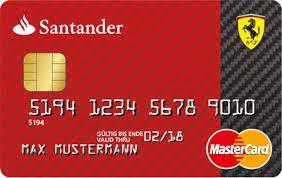 Santander Ferraric Card Kreditkarte