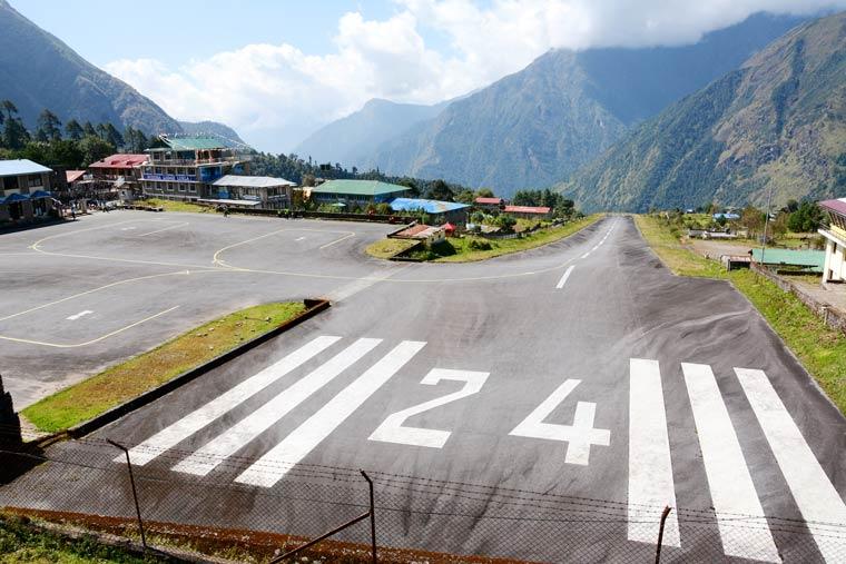 Tenzing-Hillary Airport in Nepal