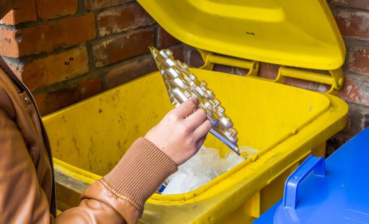 Welcher Müll gehört in die gelbe Tonne? Eine Übersicht!