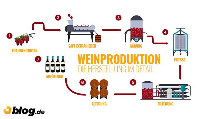 Weinproduktion - Herstellung im Detail