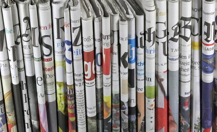 Zunehmender Auflagenschwund bei Tageszeitungen