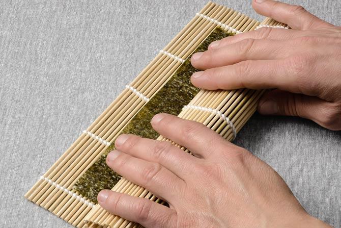Bambusmatte für Sushi notwendig