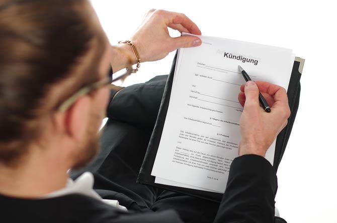 Betreffzeile - Kündigung Arbeitsvertrag
