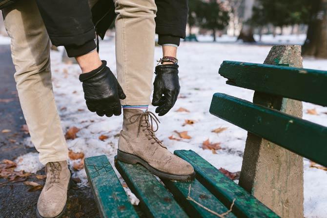 Verarbeitung - Winterstiefel und Winterschuhe für Herren