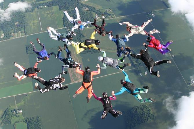 Angst beim Fallschirmsprung überwinden