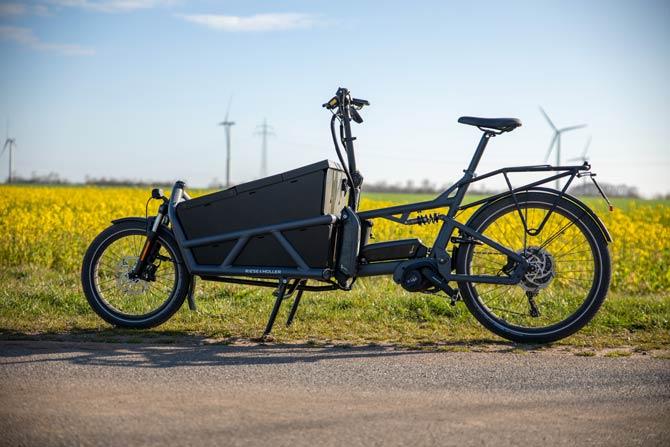Einspuriges Lastenrad