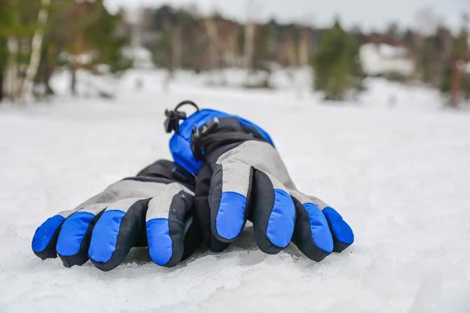 Handschuhe aus Daunen