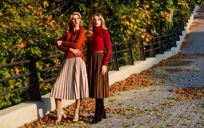 Mehrfarbige Plissee Röcke