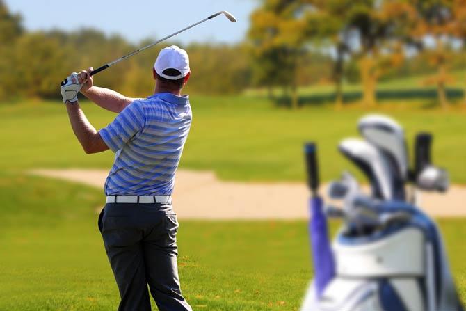 Golfen - gute Körperkoordination