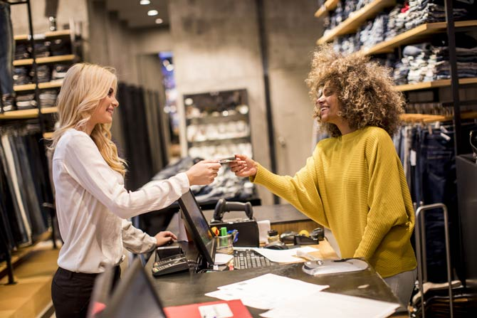 Kundenkarte im Geschäft