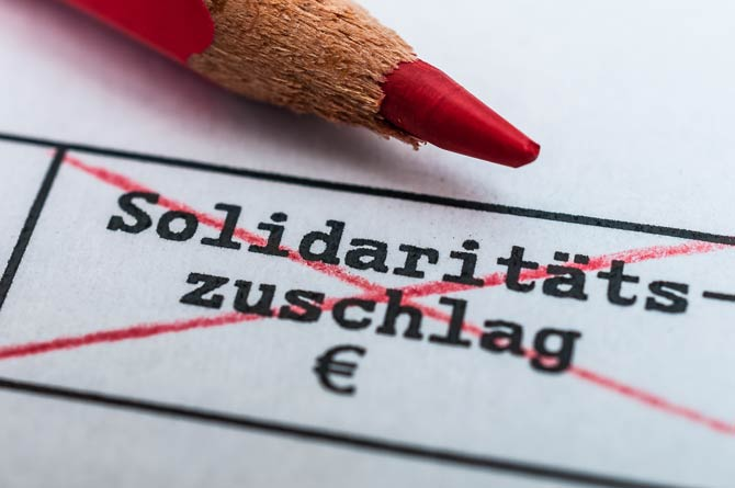 Solidaritätszuschlag fällt für viele weg