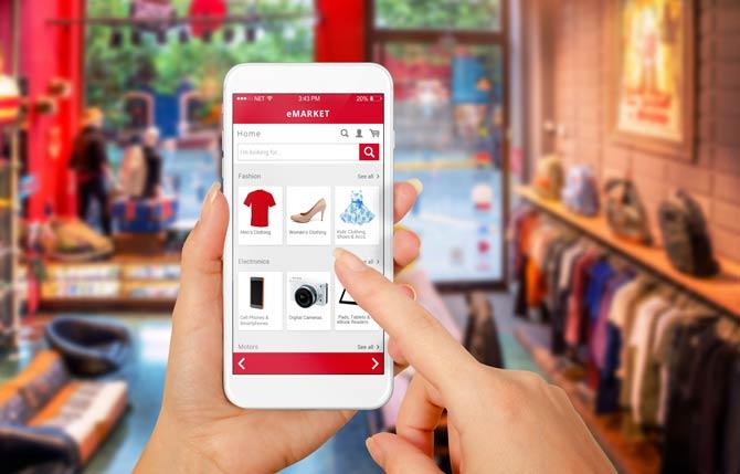 Trend zum Onlineeinkauf