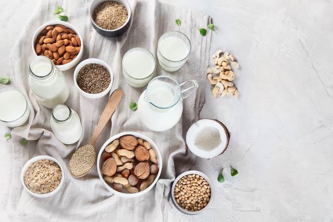 Vegane Milchprodukte