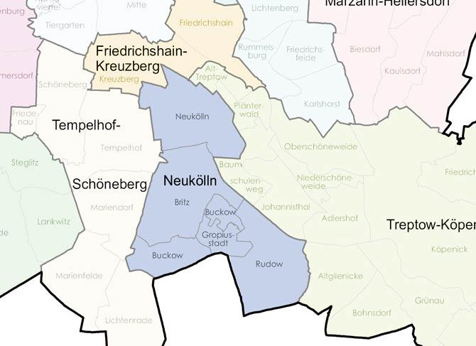 Karte von Neukölln