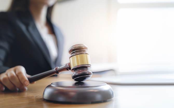 Richterin im Gericht