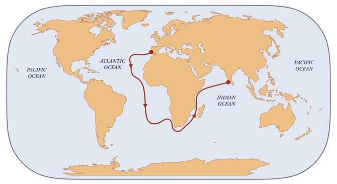 Vasco da Gama Indien Route