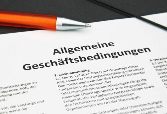 AGB - Allgemeine Geschäftsbedingungen