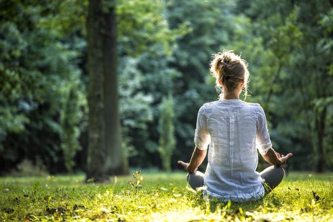 Meditation im Freien