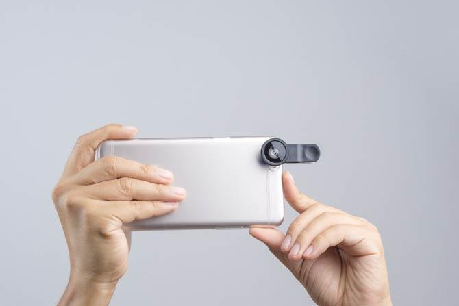 Handykamera Objektiv
