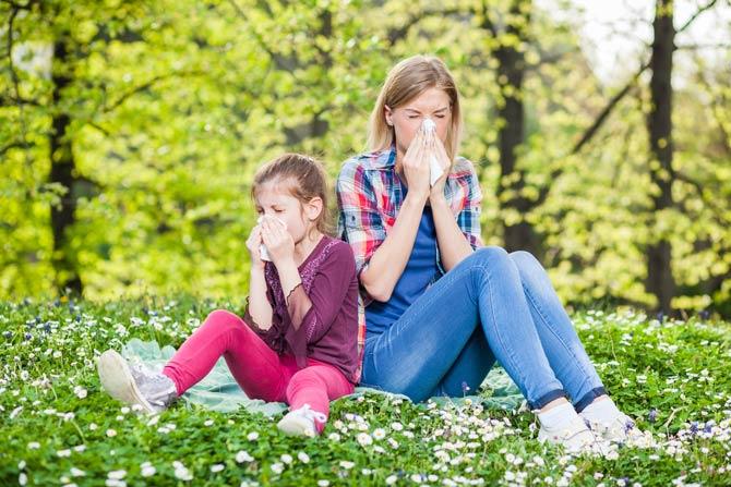 Allergie bei Mutter und Kind