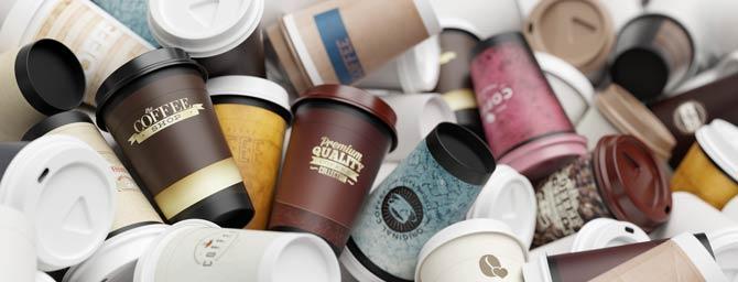 Kaffeebecher Einwegplastik