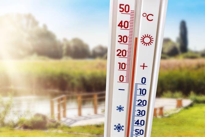 Temperatur von 35 Grad