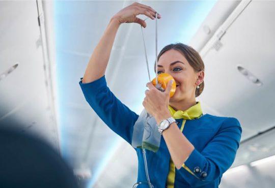 Sicherheitsanweisungen im Flugzeug