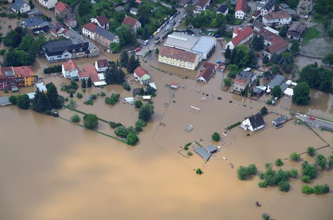 Verheerende Schäden durch Hochwasser