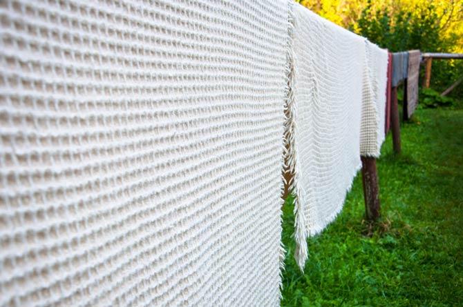 Wolldecken lüften