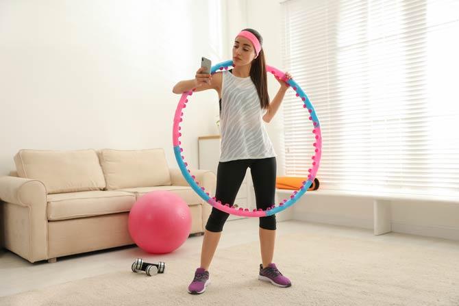 Hula Hoop Reifen mit Massageelementen